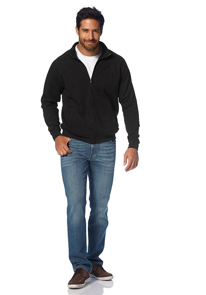 Толстовк OttoСвитера<br>Модель с небольшим воротником-стойкой, сплошной застежкой на молнию и эластичными манжетами на рукавах и по нижнему краю. Изделие из простого в уходе трикотажного материала. Покрой: зауженный. Тип застежки: молния.<br><br>Size DE: M<br>Colour: черный<br>Gender: Мужской<br>Age: Взрослый<br>Material: Верх: 80% хлопок / 20% полиэстер