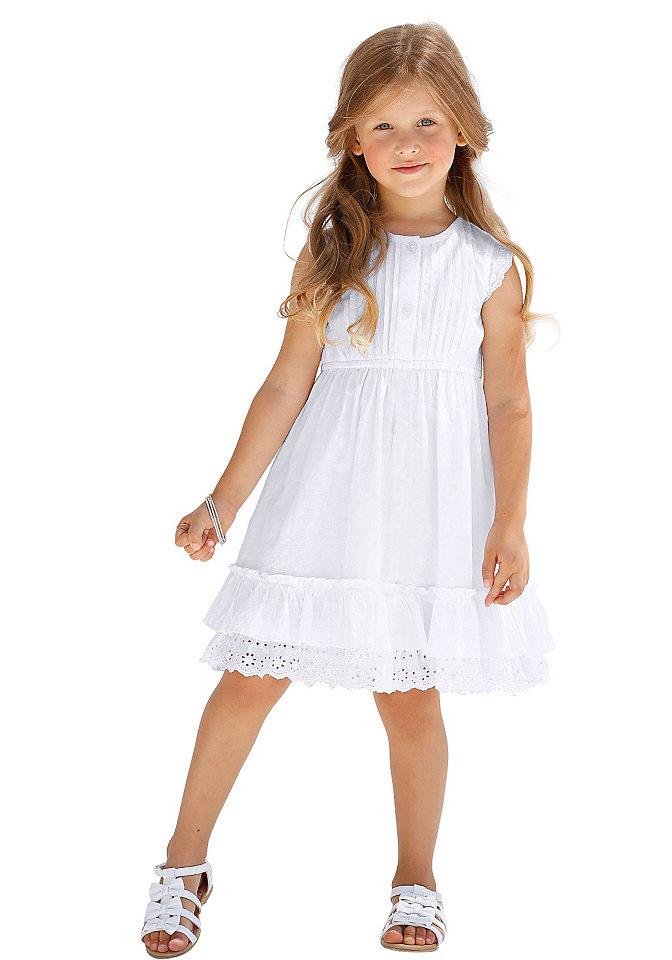 Платье OttoПлатья и юбки<br>Украшено кружевом, мелкие складки, нежные детали. Оригинальная отделка планки с пуговицами.<br><br>Size DE: 134<br>Colour: белый<br>Age: Детский<br>Material: Верх: 100% хлопок