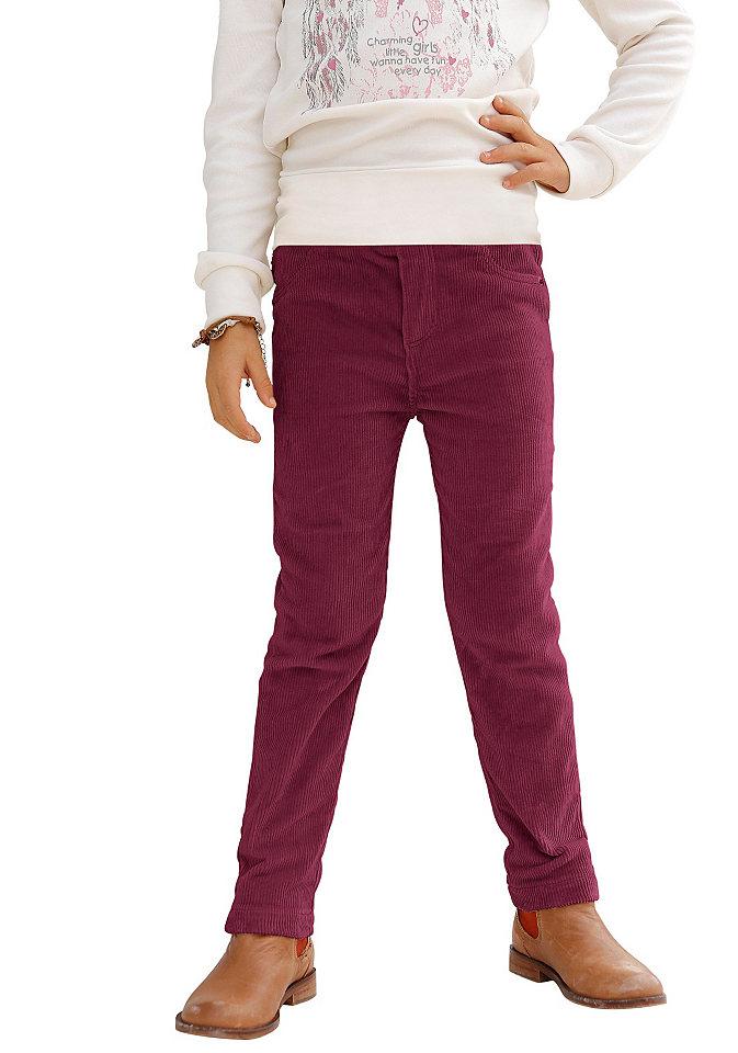 Вельветовые брюки CFL OttoБрюки и джинсы<br>Модные брюки из мягкого, тянущегося материала. Модель имеет узкий покрой, удобный эластичный пояс, два боковых и два задних кармана. Верхние углы карманов декорированы круглыми клепками. Тип изделия: Вельветовые брюки. Сведения о качестве: Гипоаллергенный материал, прошедший строгий контроль на содержание вредных веществ. Материал: Вельвет. Силуэт: Облегающий. покрой брючин: Узкий. Длина брючин: Классическая. Талия: Классическая. Пояс + застежка: Эластичный пояс. Количество карманов: 2. Передние/боковые карманы: Отсутствуют. Задние карманы: Накладные. Низ брючин: Шов вподгибку. Дизайн: Однотонный. Доставка: В сложенном виде. Состав: 98% хлопка, 2% эластана.<br><br>Size DE: 140<br>Colour: красный<br>Age: Детский<br>Material: Верх: 98% хлопок / 2% эластан