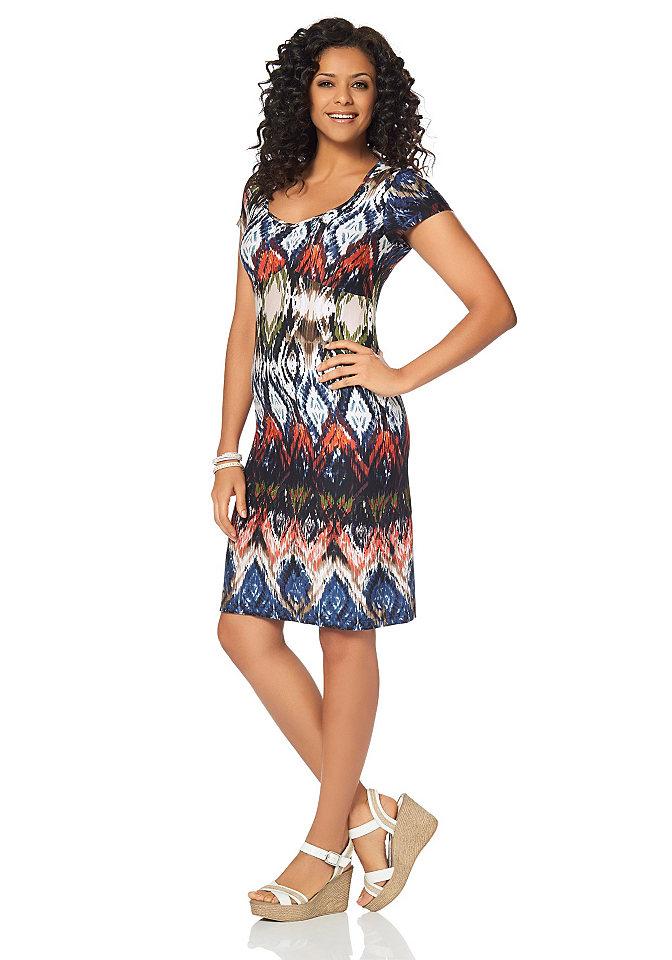 Платье OttoПлатья из джерси<br>Вы просто не сможете пройти мимо: платье от модного бренда Boysen&amp;rsquo;s выполнено из мягкого приятного джерси с эффектным разноцветным принтом. Приталенный покрой подчеркивает фигуру. Вырез в форме сердца с небольшими сборками мягко привлекает внимание к области декольте. Платье изумительно подходит как для работы, так и для встречи с подругами. Комфортно, красиво, необычно - платье от Boysen&amp;rsquo;s, без сомнения, станет любимым способом поднять себе настроение. Материал: 95% вискоза, 5% эластан.<br><br>Size DE: 42<br>Colour: разноцветный<br>Gender: Женский<br>Age: Взрослый<br>Material: Верх: 95% вискоза / 5% эластан