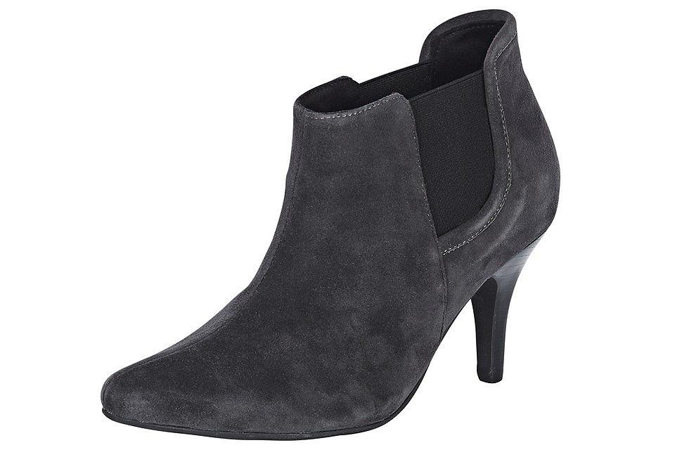 Ботильоны OttoСапожки<br>Хотите купить демисезонную обувь, которая легко впишется в комплект любого стиля? Тогда рекомендуем Вам велюровые ботильоны от Andrea Conti, представленные в нашем интернет-магазине! Классическая форма и благородная велюровая кожа наделяют эту пару обуви неповторимым элегантным шармом, а филигранный каблук (ок. 7,5 см) подчеркивает ее изящность. Благодаря лаконичности дизайна ботильоны отлично сочетаются как со строгим деловым костюмом, так и с женственным платьем или демократичными джинсами. Эластичные вставки по бокам, приятная подкладка и кожаная стелька позаботятся о Вашем комфорте. Ботильоны для женщин от Andrea Conti - незаменимый атрибут модного гардероба.<br><br>Size DE: 41<br>Colour: серый<br>Gender: Женский<br>Age: Взрослый