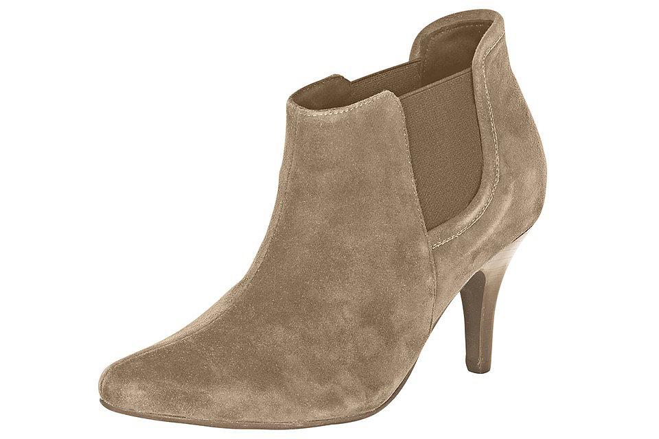 Ботильоны OttoСапожки<br>Хотите купить демисезонную обувь, которая легко впишется в комплект любого стиля? Тогда рекомендуем Вам велюровые ботильоны от Andrea Conti, представленные в нашем интернет-магазине! Классическая форма и благородная велюровая кожа наделяют эту пару обуви неповторимым элегантным шармом, а филигранный каблук (ок. 7,5 см) подчеркивает ее изящность. Благодаря лаконичности дизайна ботильоны отлично сочетаются как со строгим деловым костюмом, так и с женственным платьем или демократичными джинсами. Эластичные вставки по бокам, приятная подкладка и кожаная стелька позаботятся о Вашем комфорте. Ботильоны для женщин от Andrea Conti - незаменимый атрибут модного гардероба.<br><br>Size DE: 39<br>Colour: бежевый<br>Gender: Женский<br>Age: Взрослый