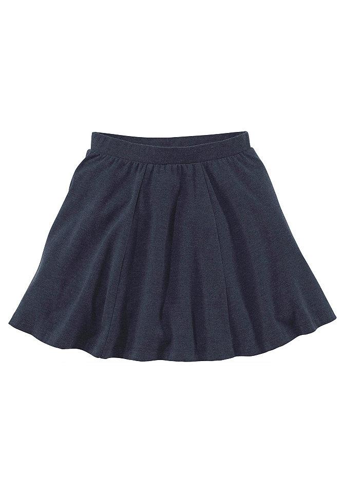 Юбка OttoЮбка от марки Kidsworld порадует каждую девочку. А-силуэт, мягкое джерси с высокой долей хлопка и красивым эффектом меланжа. Легко надевается благодаря поясу на резинке. Отлично смотрится с любыми блузками, топами, футболками и даже джинсовой ветровкой. Материал: 57% хлопок, 38% полиэстер, 5% эластан, серый меланжевый: 85% хлопок, 10% вискоза, 5% эластан, красный меланжевый: 60% хлопок, 35% полиэстер, 5% эластан.<br><br>Size DE: 128<br>Colour: синий<br>Gender: Женский<br>Age: Детский<br>Material: Верх: 57% хлопок / 38% полиэстер / 5% эластан