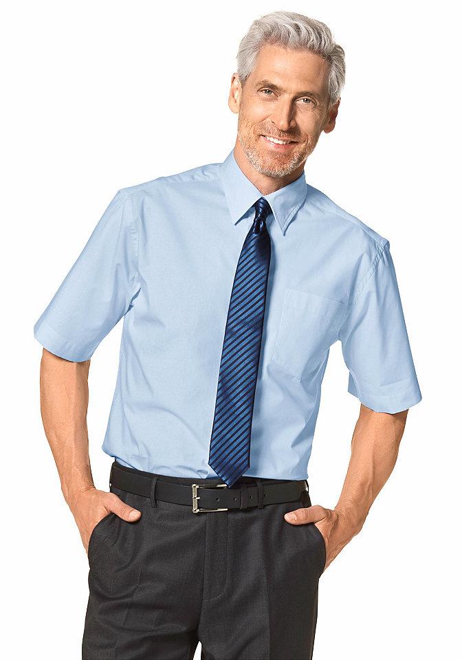 Рубашка с коротким рукавом OttoОфисная одежда<br>С воротником «кент» и карманом на линии груди. Немнущийся материал из натурального хлопка. Классические однотонные цвета. Широкий покрой.<br><br>Size DE: 55<br>Colour: синий<br>Gender: Мужской<br>Age: Взрослый<br>Material: Верх: 100% хлопок