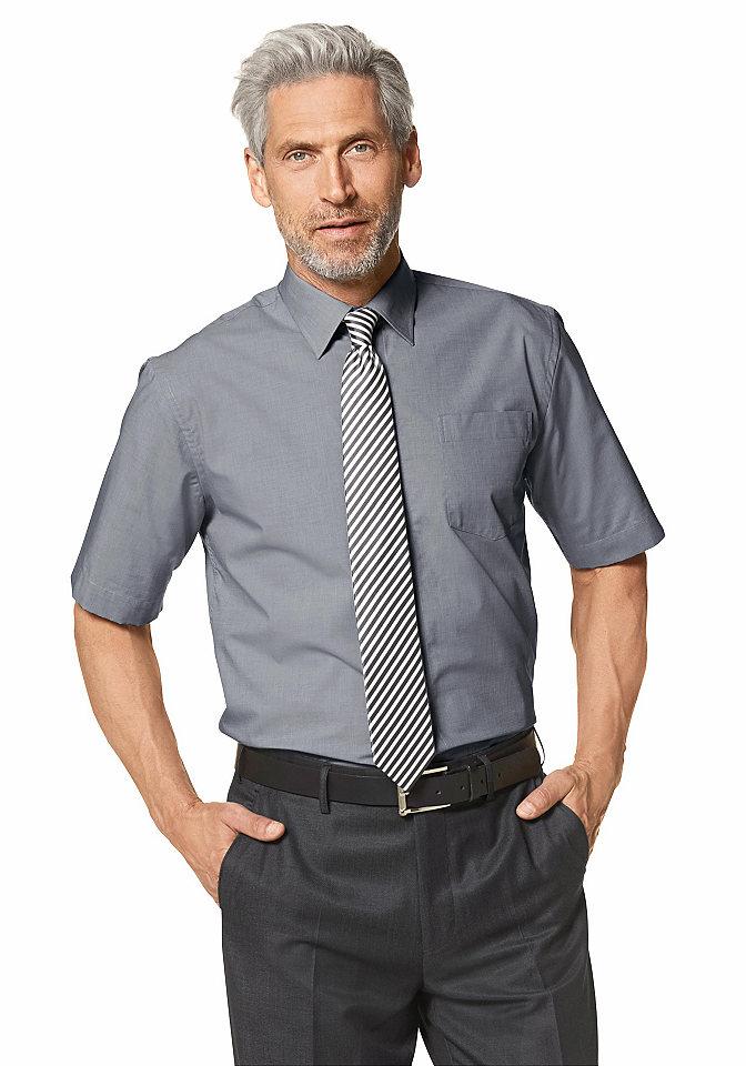 Рубашка с коротким рукавом OttoОфисная одежда<br>С воротником «кент» и карманом на линии груди. Немнущийся материал из натурального хлопка. Классические однотонные цвета. Широкий покрой.<br><br>Size DE: 47<br>Colour: серый<br>Gender: Мужской<br>Age: Взрослый<br>Material: Верх: 100% хлопок