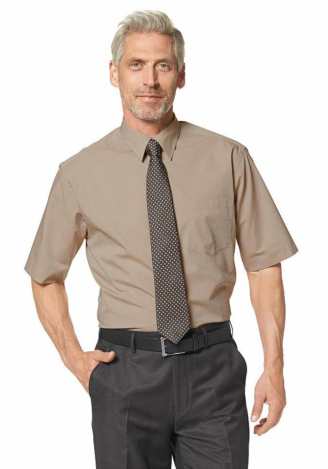 Рубашка с коротким рукавом OttoОфисная одежда<br>С воротником «кент» и карманом на линии груди. Немнущийся материал из натурального хлопка. Классические однотонные цвета. Широкий покрой.<br><br>Size DE: 37<br>Colour: коричневый<br>Gender: Мужской<br>Age: Взрослый<br>Material: Верх: 100% хлопок