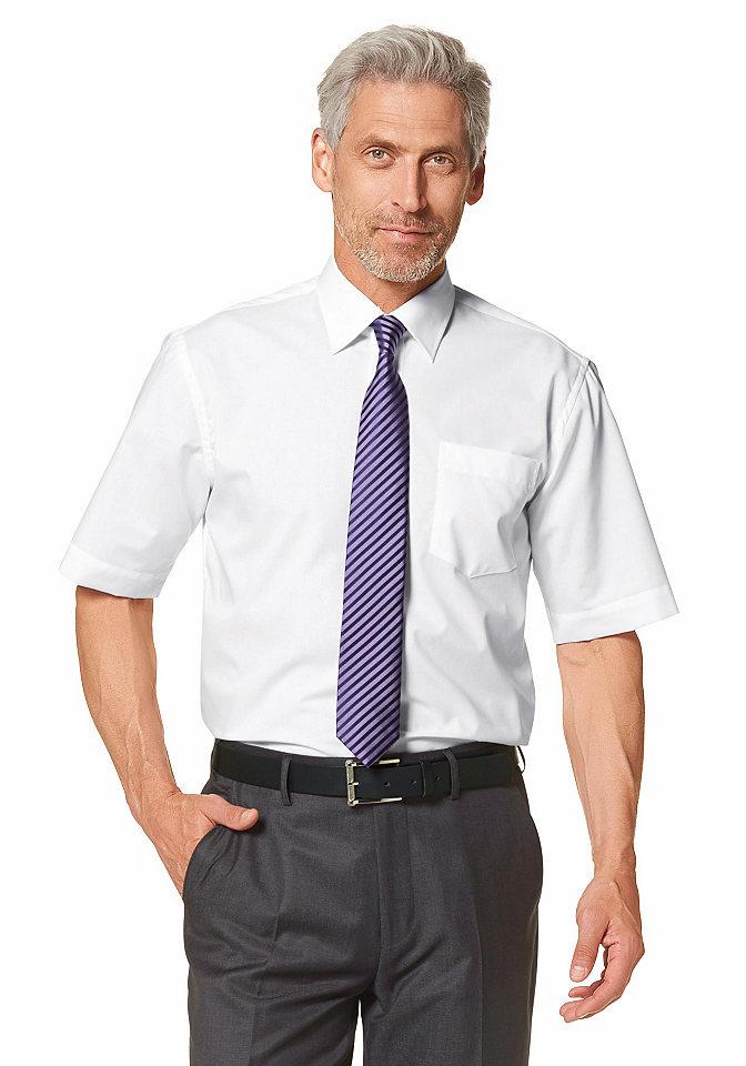 Рубашка с коротким рукавом OttoОфисная одежда<br>С воротником «кент» и карманом на линии груди. Немнущийся материал из натурального хлопка. Классические однотонные цвета. Широкий покрой.<br><br>Size DE: 53<br>Colour: белый<br>Gender: Мужской<br>Age: Взрослый<br>Material: Верх: 100% хлопок