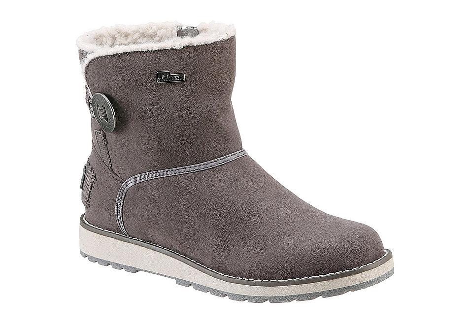 Полусапожки OttoОбувь<br>Модные полусапожки от бренда s.Oliver придутся по вкусу настоящим модницам. Оригинальная модель в стиле кэжуал обладает максимальным комфортом. Удобство обуви обеспечивает синтетическая подошва, подкладка, стелька из теплого материала, амортизирующая отделка Soft Foam. Эффектные полусапожки на молнии комфортной полноты F можно носить с джинсами любого кроя, спортивными брюками, юбками-макси. Они станут идеальным дополнением любого гардероба, стильной деталью для создания модного образа.<br><br>Size DE: 33<br>Colour: серый<br>Gender: Мужской<br>Age: Детский