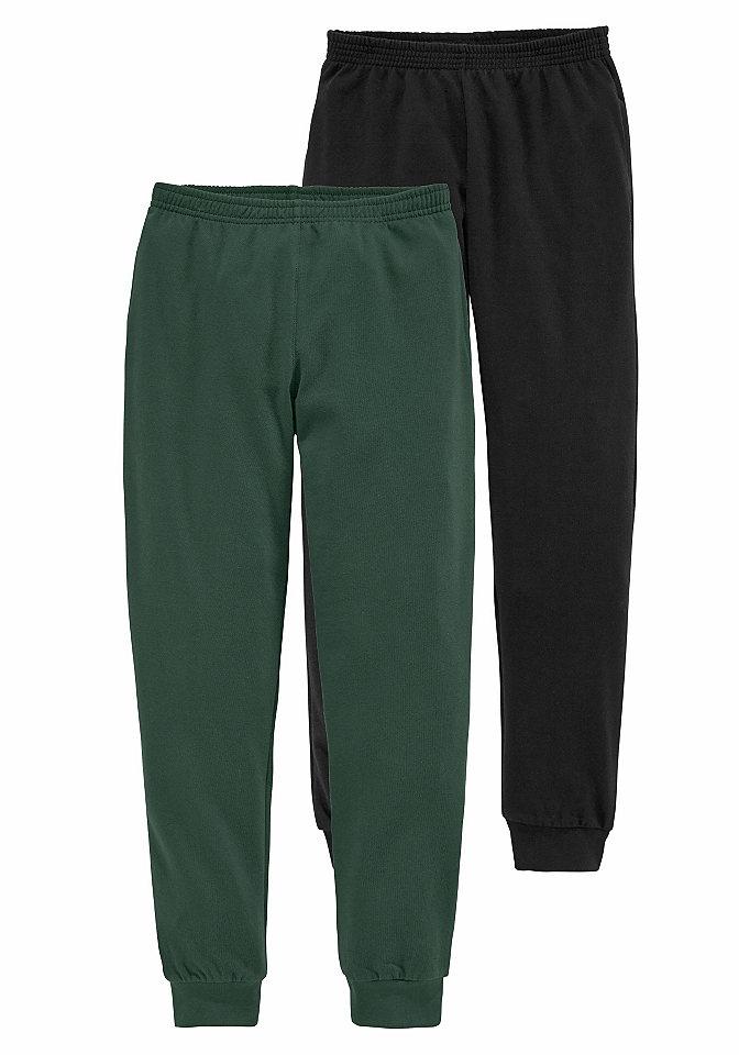 Брюки, 2 пары OttoСпортивная одежда<br>Удобно и практично: двойная упаковка стильных брюк для мальчиков от модного бренда CFL. Актуальная модель в спортивном стиле прекрасно подойдет как для повседневных комплектов, так и для активного отдыха. Отделка брючин резинками в рубчик, карманы по бокам и эластичный пояс создают максимальный комфорт и не сковывают движения. Небольшой мягкий начес внутри сохранит тепло и идеально подходит для прохладной погоды. Модель брюк полностью выполнена из натурального хлопкового материала, приятного для тела и легкого в уходе. Брюки от CFL будут отлично смотреться с футболками и удобными кроссовками.<br><br>Size DE: 92<br>Gender: Мужской<br>Age: Детский<br>Material: Верх: 100% хлопок