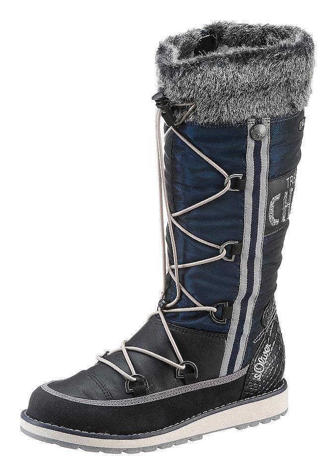 Сапоги OttoОбувь<br>Теплые модные сапоги от известного бренда s.Oliver станут находкой для любой женщины. Они комфортны, привлекательны в каждой детали. Удобство модели гарантируют амортизирующая стелька, синтетическая подошва, оптимальная полнота и практичная застежка. Внутри обувь оснащена стелькой и подкладкой из мягкого текстиля. Стильные сапоги можно носить с джинсами, юбками, комбинировать со спортивными брюками.<br><br>Size DE: 36<br>Colour: синий<br>Age: Детский