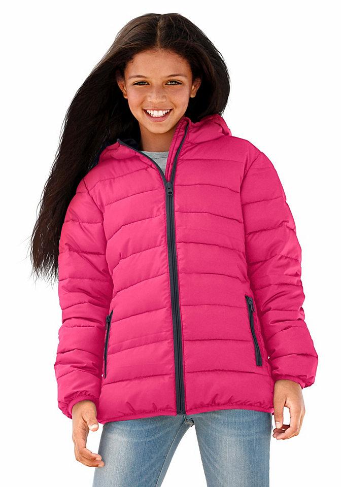 Стеганая куртка OttoКуртки и пальто<br>Детская одежда должна быть модной, одновременно, практичной, комфортной. Все эти черты можно найти в оригинальной стеганой куртке от известного бренда Arizona. Модель из теплого мягкого материала идеально скроена, она защитит, согреет ребенка от непогоды в период межсезонья. Приталенный крой стеганной курточки придает объемности силуэту. Спортивную нотку изделия подчеркивает оригинальная простежка, блестящие контрастные молнии. Модель идеально комбинируется с брюками, джинсами, ее можно носить с любимыми юбками, бриджами. Вещь универсальна, практична, ее можно стирать в машинке, не боясь деформации изделия.<br><br>Size DE: 170<br>Colour: розовый<br>Gender: Женский<br>Age: Детский<br>Material: Подбивка: 100% полиэстер;Подкладка: 100% полиэстер;Верх: 100% полиэстер
