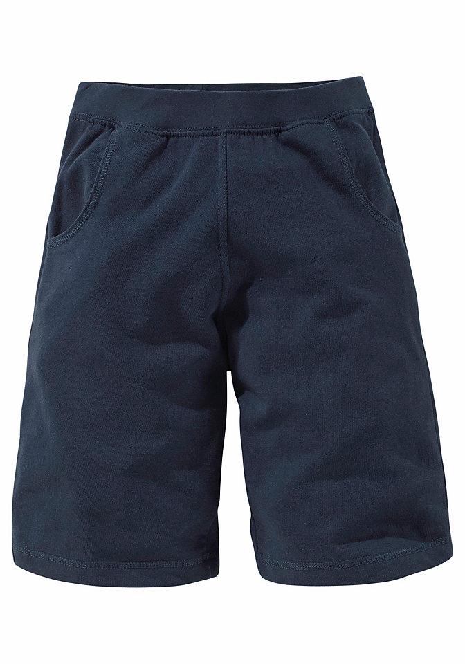Трикотажные шорты OttoСпортивная одежда<br>Стильные трикотажные шорты с втачными карманами по бокам. Удивительно мягкий и комфортный трикотажный материал из био-хлопка с начёсом. Предлагаются модели различных расцветок! Пояс на сплошной резинке и окантовки в рубчик по нижнему краю. Всё из 100 % био-хлопка, все расцветки из материала без примесей.<br><br>Size DE: 176<br>Colour: синий<br>Gender: Мужской<br>Age: Детский<br>Material: Верх: 100% хлопок