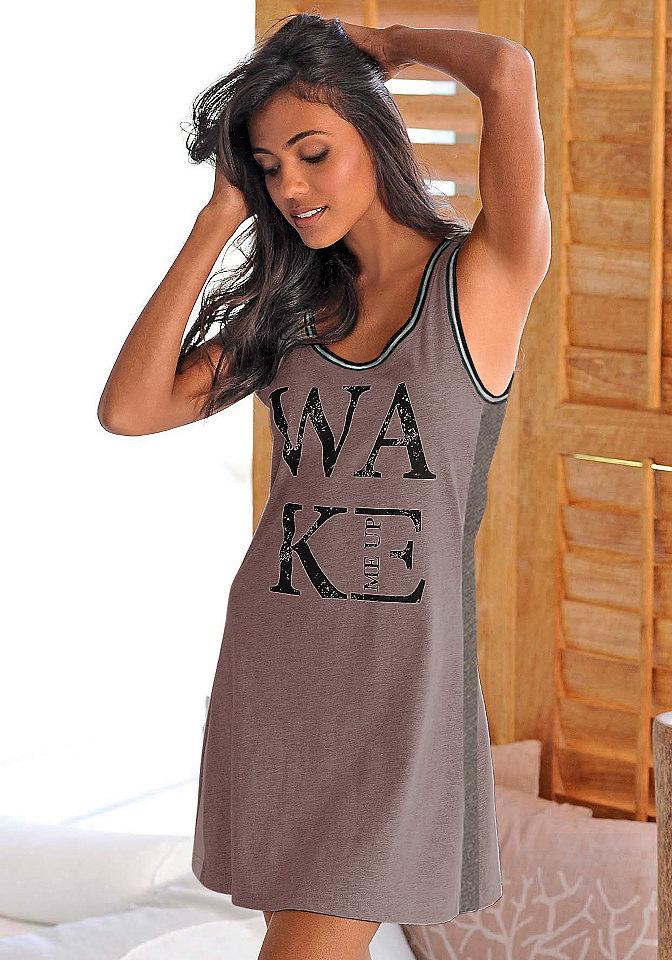 Ночная сорочка OttoОдежда для сна<br>Женская ночная рубашка Buffalo создана для поклонниц кэжуального стиля. Мини узкого фасона имеет модный принт, а также кант вязки резинкой на проймах и круглой горловине. Боковые вставки придают модели актуальный контраст. Хлопковая ткань гарантирует крепкий сон.<br><br>Size DE: 40<br>Colour: фиолетовый<br>Gender: Женский<br>Age: Взрослый<br>Material: Верх: 100% хлопок