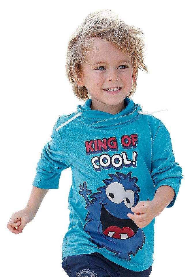 Футболка с длинными рукавами OttoФутболки и поло<br>Футболка с длинными рукавами для мальчиков - отличный выбор для детского гардероба! Она привлекает насыщенным цветом и забавным рисунком спереди, а удобный покрой с модным воротником на кулиске и хлопковое джерси заботятся о комфорте ребенка. Футболка от CFL: комбинируем с джинсами и спортивными брюками!<br><br>Size DE: 116<br>Colour: синий<br>Age: Детский<br>Material: Верх: 100% хлопок