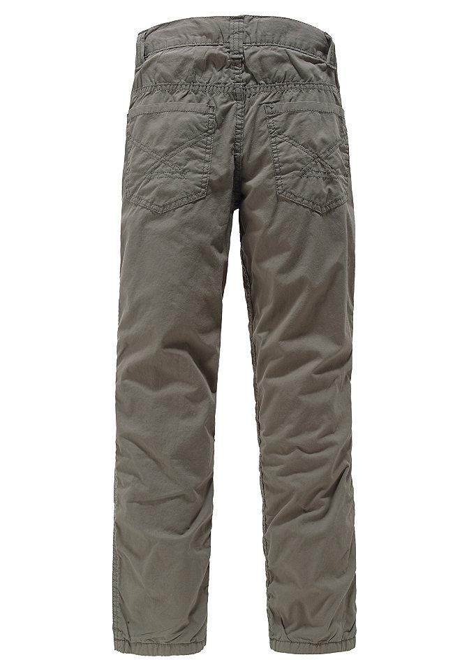 Утепленные брюки OttoБрюки и джинсы<br>Стильная модель брюк от известного бренда детской одежды CFL – оптимальное сочетание красоты и комфорта. Благодаря поясу на кнопке, брюки очень легко надеваются и снимаются. Пояс регулируется. Швы декорированы небольшими сборками, спереди - отстрочка и вытачки. Карман украшен логотипом-вышивкой. Брюки составят прекрасные комбинации с различными пуловерами и футболками. Подкладка и верх модели выполнены из 100% хлопка. Брюки подходят для машинной стирки.<br><br>Size DE: 158<br>Colour: бежевый<br>Gender: Мужской<br>Age: Детский<br>Material: Подкладка: 100% хлопок;Верх: 100% хлопок