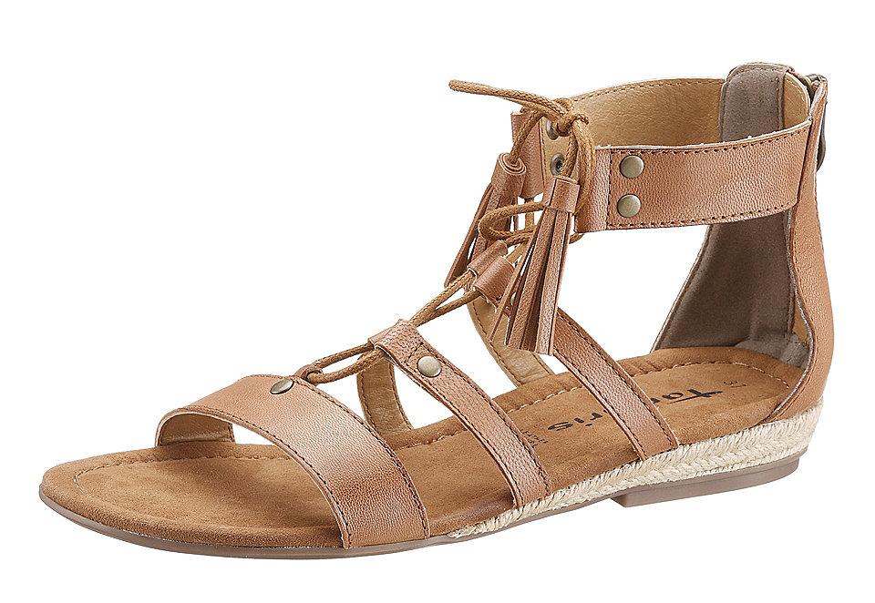 Босоножки OttoБосоножки и Cандалии<br>Женские римские сандалии на низком ходу созданы, чтобы дарить комфорт вашим ногам каждый день. Ремешки, заклепки, кисточки - все это делает фасон очень стильным. Верх из натуральной кожи, стелька из текстиля, подкладка и подошва из синтетики - для наибольшего удобства. Молния на пятке является и модной, и практичной деталью. Стандартная полнота колодки (F), каблук высотой примерно 2,5 см.<br><br>Size DE: 36<br>Colour: коричневый<br>Gender: Мужской<br>Age: Взрослый