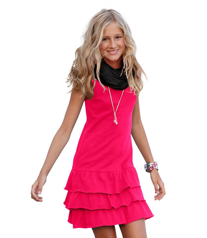 CFL, платье с воланом для девочек OttoМилое платье мини с разлетающимися воланами. 100 % хлопка. Модное платье от CFL с изящными воланами. Без рукавов. В прохладную погоду платье можно надеть поверх футболки с длинным рукавом. Не забудьте про тёплые колготки. Платье можно также комбинировать с пуловером. Платье из чистого хлопка. Материал прошёл проверку на предмет отсутствия вредных веществ. Он очень мягок и благоприятен для кожи. Лёгкий уход. Платье мини от CFL подходит как для образов в спортивном стиле, так и для образов с женственной ноткой.<br><br>Size DE: 140<br>Colour: розовый<br>Gender: Женский<br>Age: Детский<br>Material: Верх: 100% хлопок