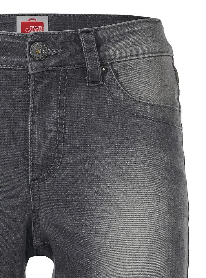 Джинсы OttoДжинсы «дудочки»<br>Узкие джинсы-дудочки с заниженным поясом - отличный выбор для женского гардероба. Они отлично подчеркивают фигуру, а благодаря эластану не затрудняют движения. Классически детали (5 карманов и петли для ремня) дополнены актуальной контрастной отстрочкой. Длина по внутреннему шву для размера N ок. 74 см, для размера К ок. 68 см. Ремень в комплект не входит.<br><br>Size DE: 42<br>Colour: серый<br>Gender: Женский<br>Age: Взрослый<br>Material: Верх: 98% хлопок / 2% эластан