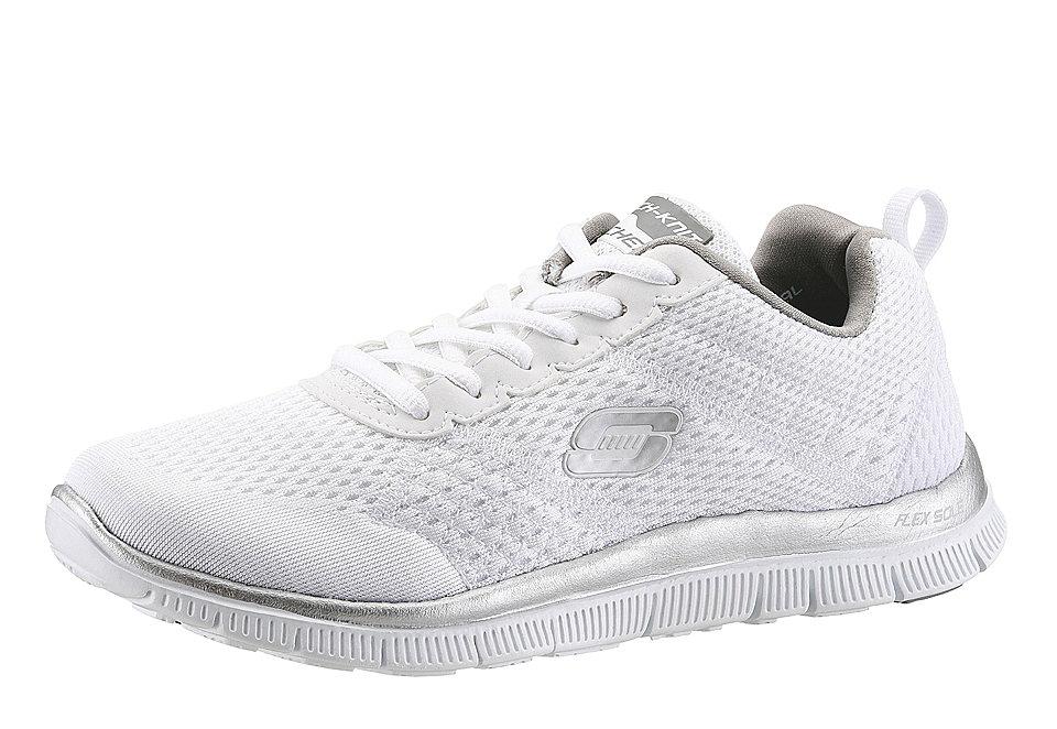 Сникеры OttoКроссовки<br>Сникеры от марки Skechers - удобная спортивная обувь на шнурках. Верх из текстиля и искусственной кожи, подкладка и мягкая стелька сделаны из текстиля, подошва резиновая. Есть фирменная амортизационная система Skechers Memory Foam, которая заметно уменьшает нагрузку на стопу. Полнота средняя F.<br><br>Size DE: 37<br>Colour: белый<br>Gender: Женский<br>Age: Взрослый