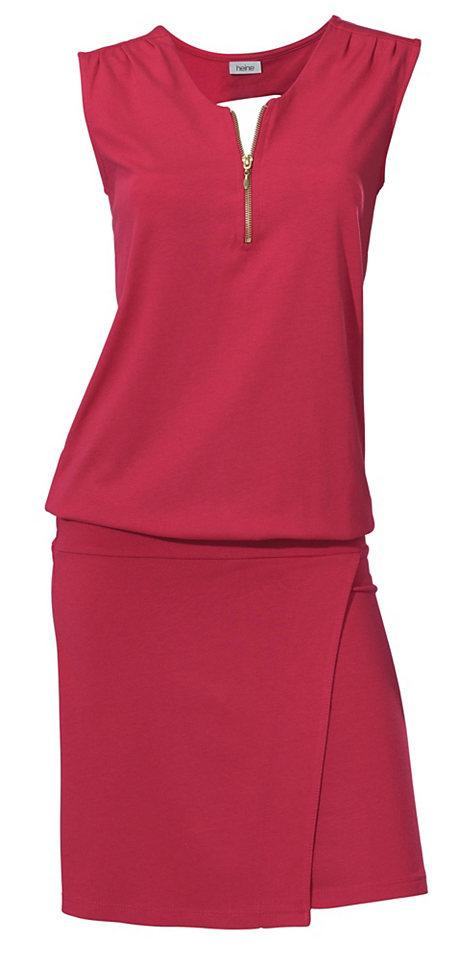 Платье OttoС запахом<br>На каждый день советуем купить это платье без рукавов. Прилегающий силуэт стилизован под комплект из топа с короткой молнией спереди и вырезом сзади и узкой юбки с запахом. Длина ок. 102 см.<br><br>Size DE: 44<br>Colour: красный<br>Gender: Женский<br>Age: Взрослый<br>Material: Верх: 50% хлопок / 50% модал