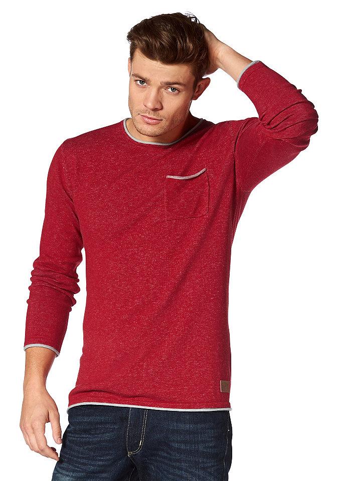 Пуловер OttoУличная одежда<br>Трикотажный пуловер от марки John Devin - отличная основа для кэжуал-комплекта. Контрастная окантовка по краям создает легкий эффект 2 в 1. Меланжевая расцветка и скрученный нижний край подчеркивают непринужденный характер модели. Прилегающий силуэт искусно демонстрирует фигуру, а благодаря высокому содержанию хлопка носить пуловер очень комфортно.<br><br>Size DE: XS<br>Colour: серый<br>Gender: Мужской<br>Age: Взрослый<br>Material: Верх: 50% хлопок / 50% полиакрил