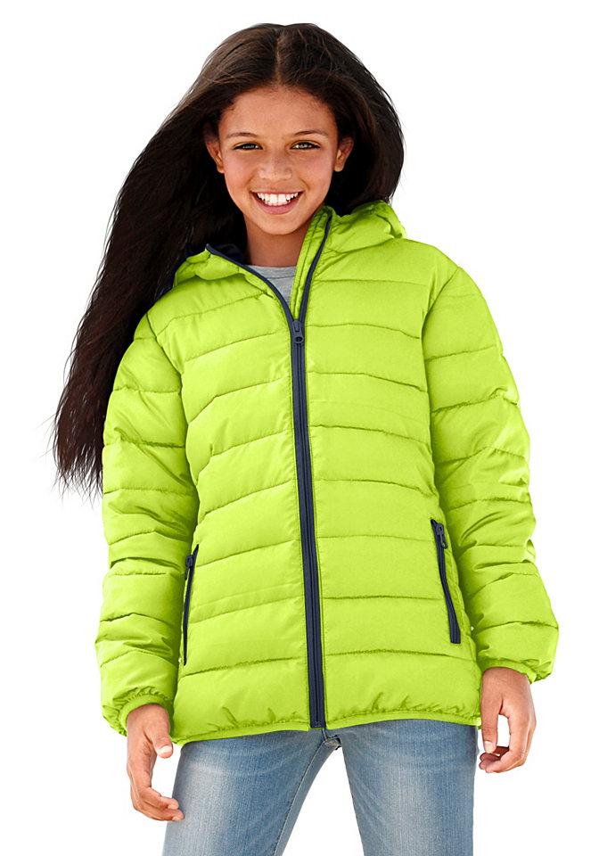 Стеганая куртка OttoКуртки и пальто<br>Детская одежда должна быть модной, одновременно, практичной, комфортной. Все эти черты можно найти в оригинальной стеганой куртке от известного бренда Arizona. Модель из теплого мягкого материала идеально скроена, она защитит, согреет ребенка от непогоды в период межсезонья. Приталенный крой стеганной курточки придает объемности силуэту. Спортивную нотку изделия подчеркивает оригинальная простежка, блестящие контрастные молнии. Модель идеально комбинируется с брюками, джинсами, ее можно носить с любимыми юбками, бриджами. Вещь универсальна, практична, ее можно стирать в машинке, не боясь деформации изделия.<br><br>Size DE: 128<br>Gender: Женский<br>Age: Детский<br>Material: Подбивка: 100% полиэстер;Подкладка: 100% полиэстер;Верх: 100% полиэстер