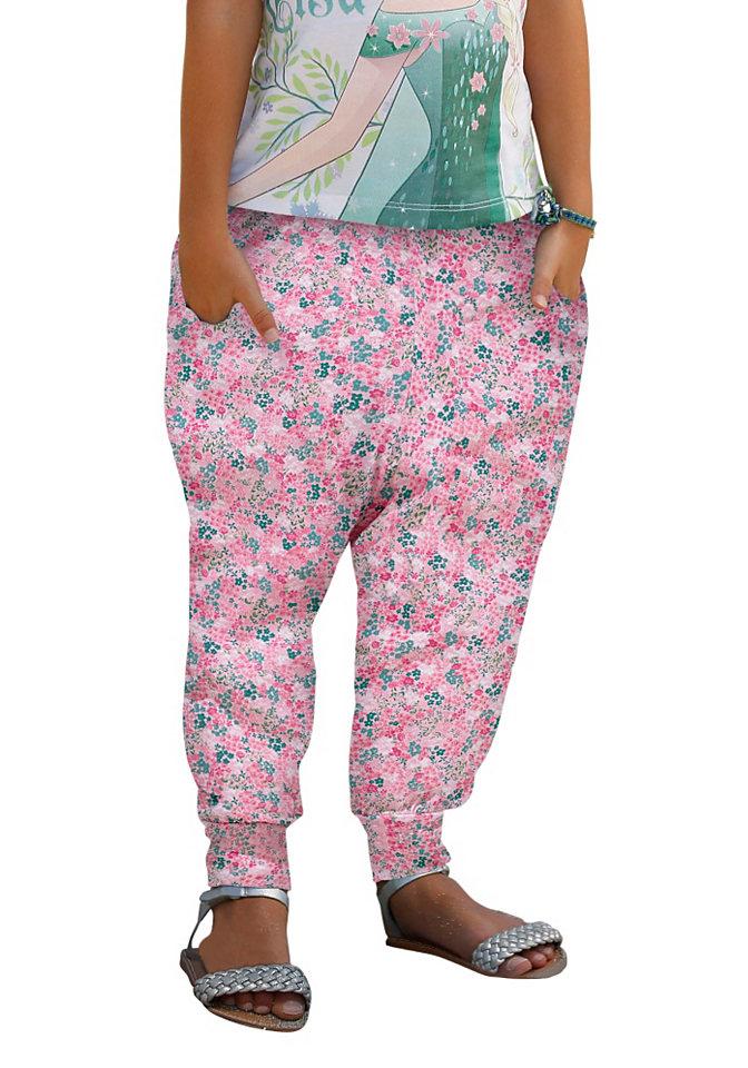 Шаровары OttoБрюки и джинсы<br>Легкие летние шаровары Kidoki - маст-хэв для вашей девочки. Струящаяся вискоза нежного розового оттенка в цветочек создаст прохладу и солнечное настроение. Свободный фасон каррот с поясом-резинкой стандартной высоты и карманами по бокам - для абсолютной свободы движений. Модель будет сочетаться с любым топом и кофточкой - комбинируем по вкусу!<br><br>Size DE: 122<br>Colour: розовый<br>Age: Детский<br>Material: Верх: 100% вискоза