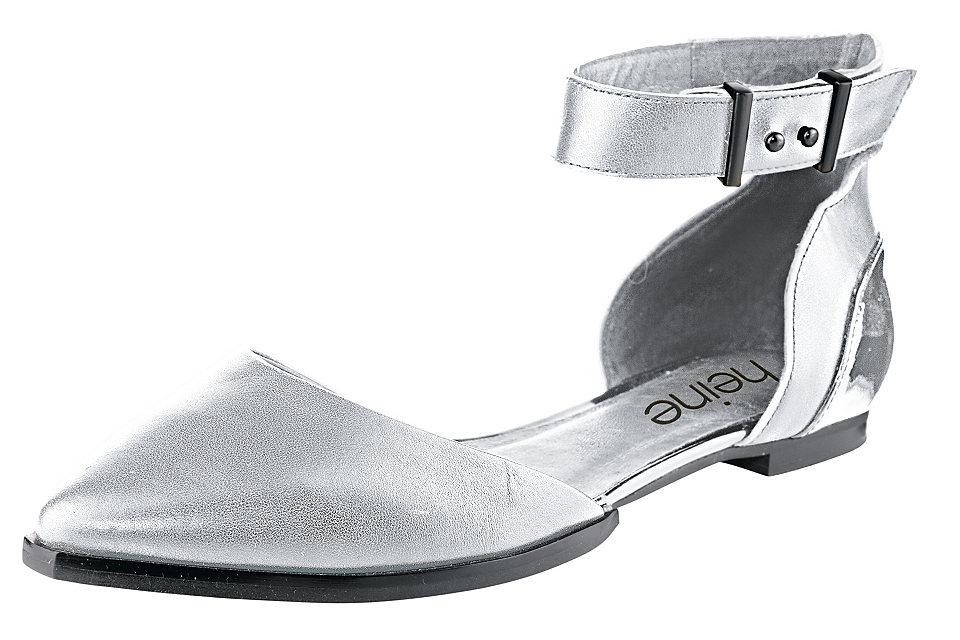 Балетки OttoБалетки и мокасины<br>Комфортные балетки - отличные летние туфли на каждый день! Благородная кожа дополнена лакированными синтетическими деталями. Ремешок на щиколотке надежно фиксирует обувь на ноге. Внутренняя кожаная отделка и хорошо гнущаяся подошва создают комфорт во время ходьбы. Спешите купить эти кожаные балетки в нашем интернет-магазине одежды, в них вам будет удобно!<br><br>Size DE: 37<br>Colour: серый<br>Gender: Женский<br>Age: Взрослый