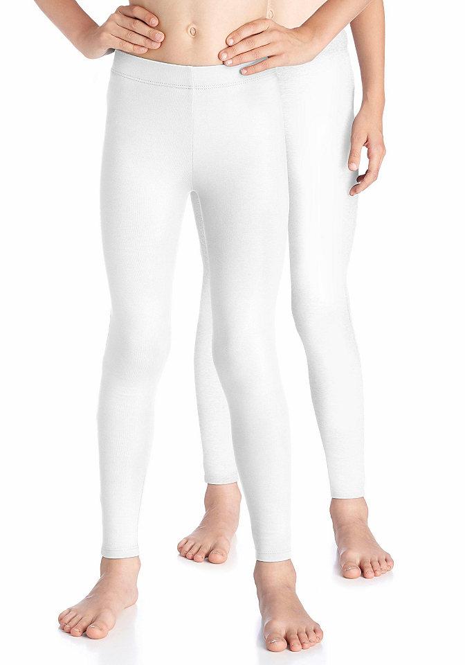 Легинсы OttoБрюки и джинсы<br>Базовые легинсы от марки Kidsworld отлично впишутся в совершенно любой гардероб, поскольку их лаконичная модель и нейтральная расцветка позволяют комбинировать их с различными платьями, туниками, длинными кофточками и пуловерами. Материал с высокой долей хлопка приятен для тела, а стрейч обеспечивает свободу движений. Материал: 95% хлопок, 5% эластан.<br><br>Size DE: 140<br>Colour: белый<br>Age: Детский<br>Material: Верх: 95% хлопок / 5% эластан