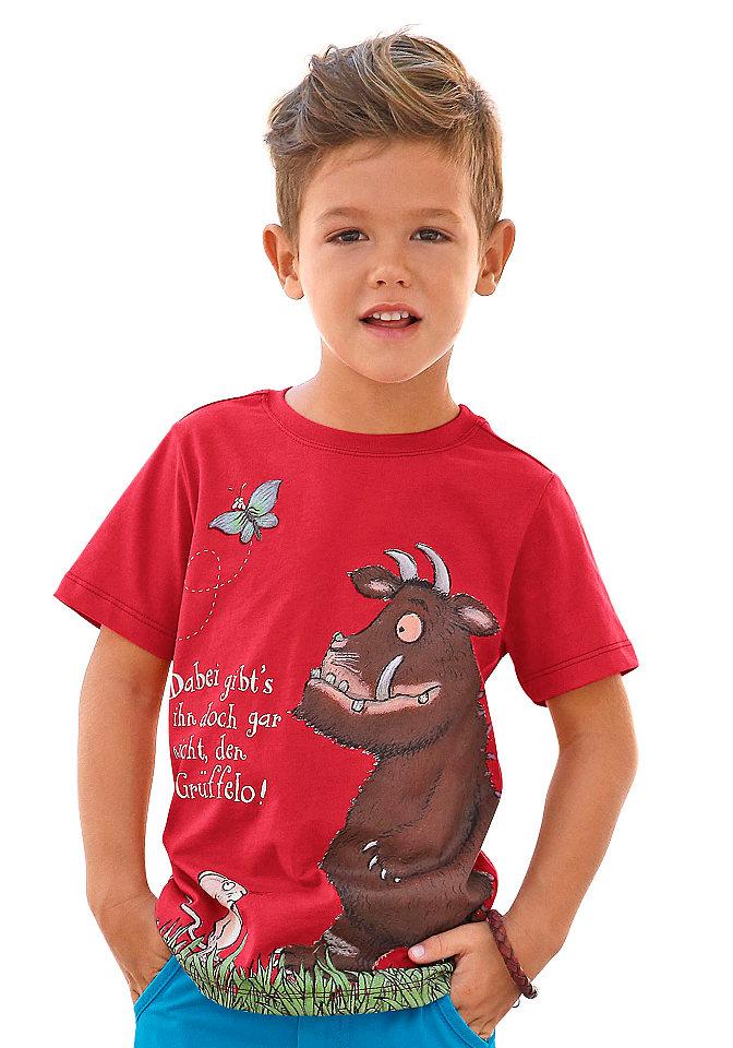 Футболка OttoФутболки и поло<br>Каждому ребенку понравится яркая футболка с персонажами любимого мультфильма. Прекрасно подходит на каждый день: удобная модель с круглой горловиной и короткими рукавами выполнена из приятного хлопкового джерси. Футболка отлично сочетается с джинсами и шортами. Материал: 100% хлопок.<br><br>Size DE: 92<br>Colour: красный<br>Gender: Мужской<br>Age: Детский<br>Material: Верх: 100% хлопок