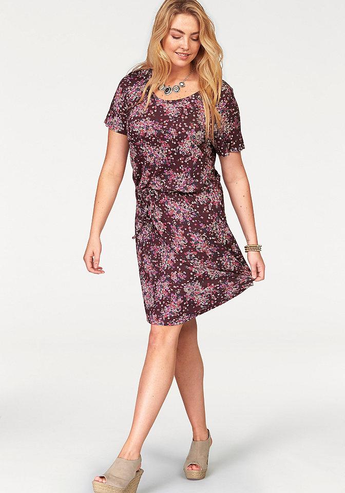 Платье OttoПлатья из джерси<br>Женское платье Boysens: принт в цветочек, круглая горловина, короткие рукава, на бедрах практичная кулиска, закругленный нижний край, слегка расклешенный покрой, струящееся джерси-стрейч - непревзойдённый дизайн! Длина составляет примерно 98 см.<br><br>Size DE: 48<br>Colour: красный<br>Gender: Женский<br>Age: Взрослый<br>Material: Верх: 95% вискоза / 5% эластан