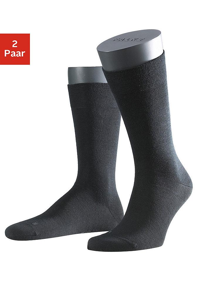 Мужские носки от Falke, «Berlin» (2 пары) OttoЧулки и носки<br>В комплекте из 2 штук. Мягкий хлопок внутри и мериносовая шерсть снаружи обеспечивают оптимальную терморегуляцию и приятное чувство комфорта. Без врезающейся резинки. Уплотнённый материал в области пятки и носка. Недавящий носок благодаря шву ручной работы.  60 % стриженой шерсти, 23 % хлопка, 15 % полиамида, 2 % эластана.  Носки длиной выше щиколотки.<br><br>Size DE: 47<br>Colour: черный<br>Gender: Мужской<br>Age: Взрослый<br>Material: Верх: 60% стриженная шерсть / 23% хлопок / 15% полиамид / 2% эластан