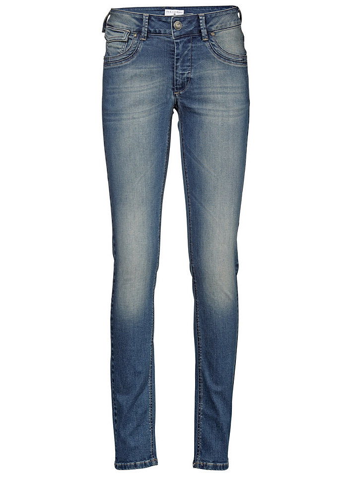 Джинсы OttoПрямые<br>Узкие джинсы с 5 карманами, эффектной расцветкой, контрастными швами и декоративной вышивкой на карманах сзади. Slim Fit. 98 % хлопка, 2 % эластана. Машинная стирка. Без ремня. Длина по внутреннему шву: Н-разм. ок. 79 см, М-разм. ок. 73 см.<br><br>Size DE: 42<br>Colour: синий<br>Gender: Женский<br>Age: Взрослый<br>Material: Верх: 98% хлопок / 2% эластан