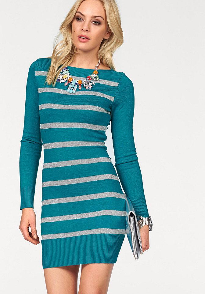 Платье OttoДля вечеринок<br>Для эффектного образа рекомендуем платье от марки Melrose, украшенное блестящим узором в полоску. Узкий крой с вырезом-лодочкой подчеркивает фигуру. По краям вязка в рубчик. Мягкий трикотаж с добавлением вискозы приятен для тела.<br><br>Size DE: 38<br>Colour: зеленый<br>Gender: Женский<br>Age: Взрослый<br>Material: Верх: 71% вискоза / 20% полиамид / 9% металлизированные волокна