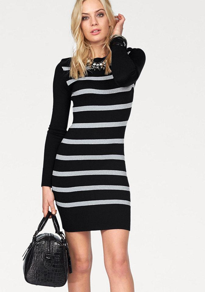 Платье OttoДля вечеринок<br>Для эффектного образа рекомендуем платье от марки Melrose, украшенное блестящим узором в полоску. Узкий крой с вырезом-лодочкой подчеркивает фигуру. По краям вязка в рубчик. Мягкий трикотаж с добавлением вискозы приятен для тела.<br><br>Size DE: 42<br>Colour: черный<br>Gender: Женский<br>Age: Взрослый<br>Material: Верх: 71% вискоза / 20% полиамид / 9% металлизированные волокна