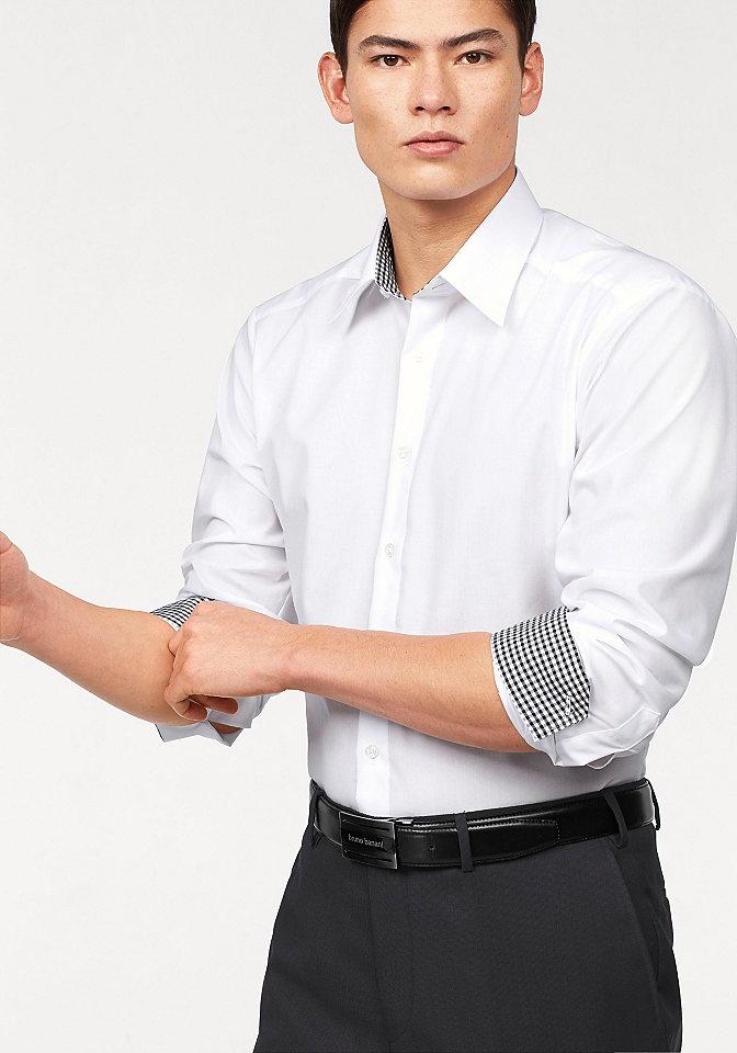 Bruno Banani, рубашка OttoОфисная одежда<br>С воротником «кент». Модные контрастные вставки на воротнике и манжетах. Немнущийся материал. 100 % хлопка.<br><br>Size DE: 37<br>Colour: белый<br>Gender: Мужской<br>Age: Взрослый<br>Material: Верх: 100% хлопок