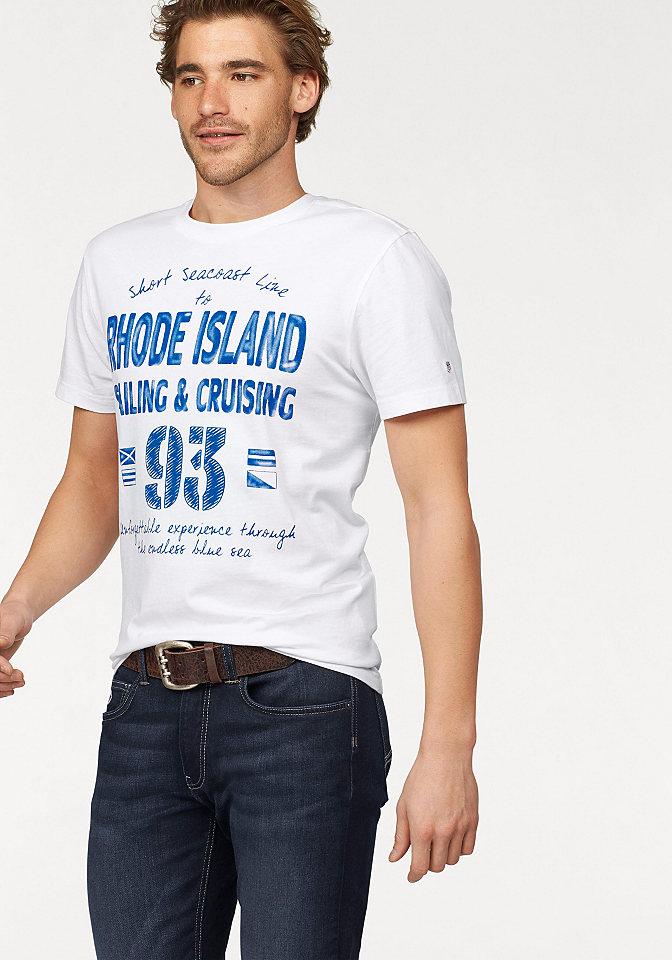 Футболка OttoФутболки<br>Мужская хлопковая футболка - то, что должен купить каждый! Простая модель в спортивном стиле с округлой горловиной и короткими рукавами украшена ярким рисунком спереди. Удобный покрой и джерси из хлопка обеспечат вам комфорт. Футболка универсальна и легко сочетается с любыми демократичными брюками и шортами.<br><br>Size DE: XXXL<br>Colour: белый<br>Gender: Мужской<br>Age: Взрослый<br>Material: Верх: 100% хлопок