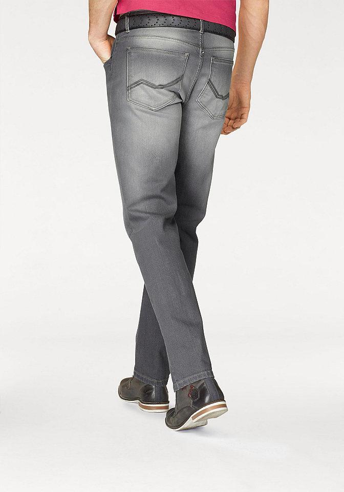 Джинсы OttoУдобные джинсы<br>Прямые мужские джинсы - то, что захочет купить каждый! Классическая модель с немного заниженным притачным поясом со шлевками и 5 карманами декорирована нашивкой-логотипом на кармане спереди и эффектом потертости. Застегиваются на молнию и пуговицу. Джинсы хорошо сочетаются как с футболками, так и с демократичными рубашками. Купите их и вы не прогадаете!<br><br>Size DE: 29<br>Colour: серый<br>Gender: Мужской<br>Age: Взрослый<br>Material: Верх: 98% хлопок / 2% эластан