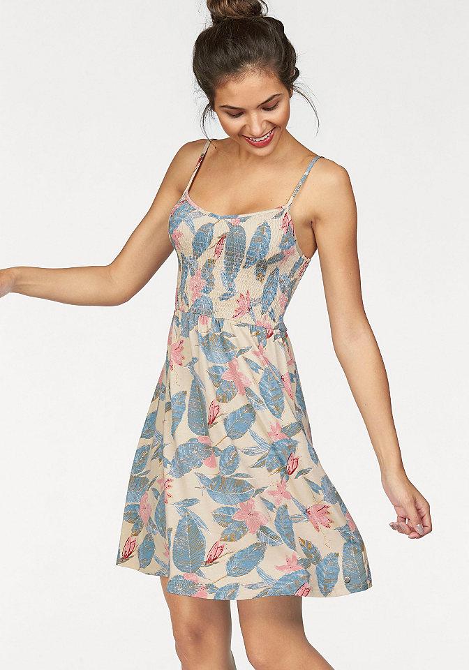 Платье OttoЛетние<br>Короткое летнее платье - максимум стиля и комфорта для вас! Модель украшена оригинальным принтом в пастельных тонах. Эластичный верх стильно присборен и дополнен короткой конической юбкой. Бретели регулируются для оптимальной посадки по фигуре. Платье выполнено из мягкого джерси-стрейч для большего удобства. Легкое, привлекательное, стильное - перед желанием купить это мини-платье не устоит ни одна модница! Длина ок. 86 см.<br><br>Size DE: 38<br>Colour: бежевый<br>Gender: Женский<br>Age: Взрослый<br>Material: Верх: 95% вискоза / 5% эластан