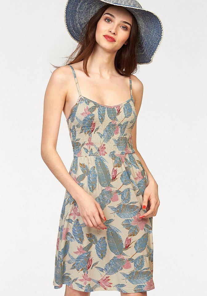 Платье OttoЛетние<br>Короткое летнее платье - максимум стиля и комфорта для вас! Модель украшена оригинальным принтом в пастельных тонах. Эластичный верх стильно присборен и дополнен короткой конической юбкой. Бретели регулируются для оптимальной посадки по фигуре. Платье выполнено из мягкого джерси-стрейч для большего удобства. Легкое, привлекательное, стильное - перед желанием купить это мини-платье не устоит ни одна модница! Длина ок. 86 см.<br><br>Size DE: 40<br>Colour: бежевый<br>Gender: Женский<br>Age: Взрослый<br>Material: Верх: 95% вискоза / 5% эластан