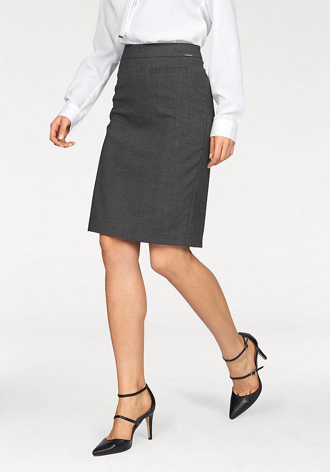 Юбка-карандаш OttoЮбки<br>Прямая женская юбка - вечная классика женского гардероба! Благодаря широкому притачному поясу и эластичной ткани эта узкая модель отлично сидит. Сзади небольшой разрез (для комфорта при ходьбе) и практичная потайная молния. Спереди миниатюрный прорезной карман. Такая юбка до колен отлично смотрится как в тандеме со строгой блузкой и офисным жакетом, так в сочетании с нарядным топом. В ней вы сможете пойти и на работу, и на торжественное мероприятие, поэтому советуем купить ее прямо сейчас! Длина ок. 54 см.<br><br>Size DE: 46<br>Colour: серый<br>Gender: Женский<br>Age: Взрослый<br>Material: Подкладка: 100% полиэстер;Верх: 74% полиэстер / 24% вискоза / 2% эластан