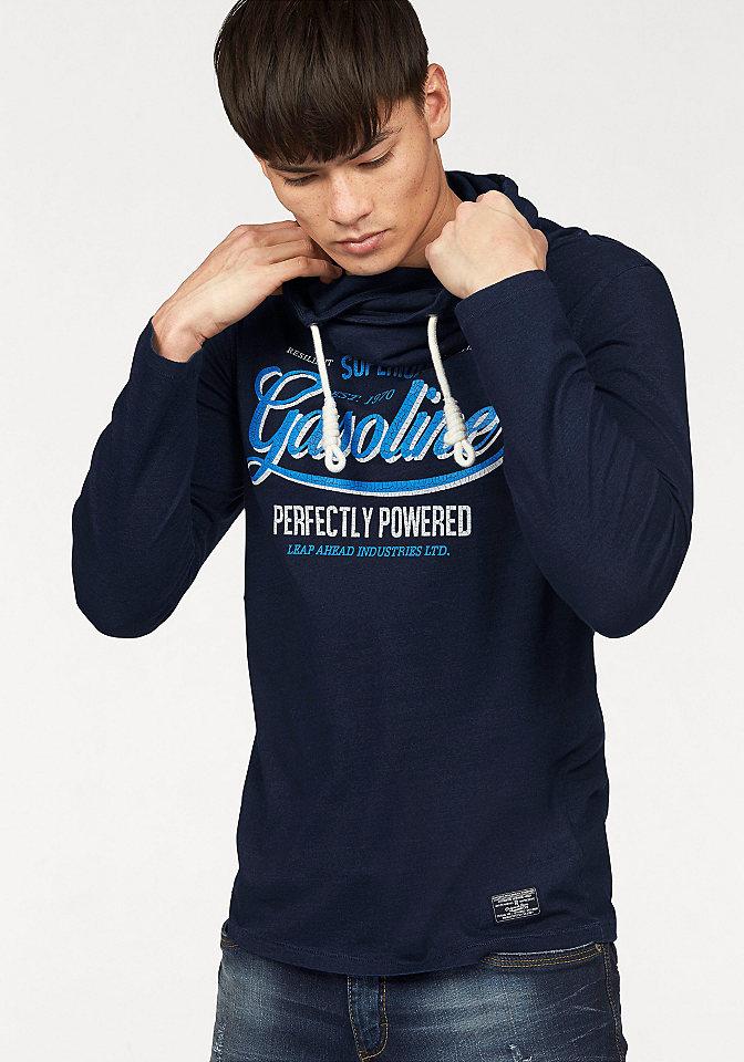 Футболка с длинными рукавами OttoУличная одежда<br>Мужская футболка с длинными рукавами из нашего интернет-магазина - стильно, молодежно, удобно! Модель дополнена нетривиальным воротником на кулиске и рисунком спереди. Хлопковое джерси приятно для тела. Футболка подходит для комплектов с джинсами или чиносами.<br><br>Size DE: XXL<br>Colour: синий<br>Gender: Мужской<br>Age: Взрослый<br>Material: Верх: 100% хлопок