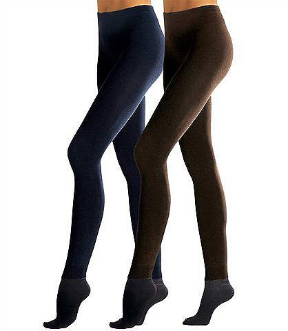 Трикотажные леггинсы, Lavana (2 шт.) OttoHоски<br>В комплекте из 2 шт. Гладкий трикотаж. 78 % хлопка, 20 % полиамида, 2 % эластана.<br><br>Size DE: 46<br>Colour: Комплект расцветок<br>Gender: Женский<br>Age: Взрослый<br>Material: Верх: 78% хлопок / 20% полиамид / 2% эластан