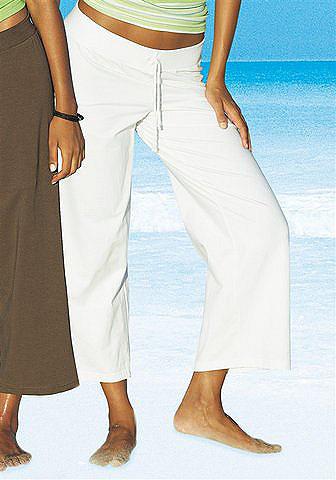Пляжные штаны длиной 7/8 OttoБрюки и шорты<br>Базовая модель пляжных брюк. Большой выбор расцветок и размеров. Удобный покрой с поясом на резинке и шнурком. Длина без пояса - ок. 83 см. Подчёркивающий фигуру покрой. Мягкий трикотаж стретч: 95 % хлопка, 5 % эластана.<br><br>Size DE: 32<br>Colour: белый<br>Gender: Женский<br>Age: Взрослый<br>Material: Верх: 95% хлопок / 5% эластан