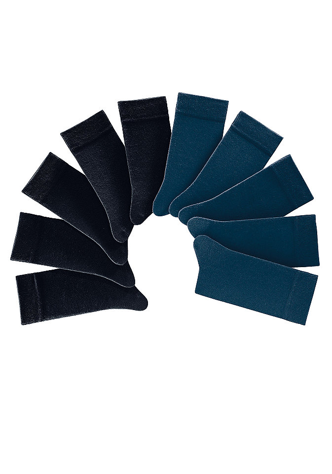 Носки унисекс, H.I.S. Socks (10 пар) OttoHоски<br>Вы получаете 10 пар. Из 75% хлопка, 22% полиамида и 3% эластана.<br><br>Size DE: 35<br>Colour: черный<br>Gender: Женский<br>Age: Взрослый<br>Material: Верх: 76% хлопок / 23% полиамид / 1% эластан