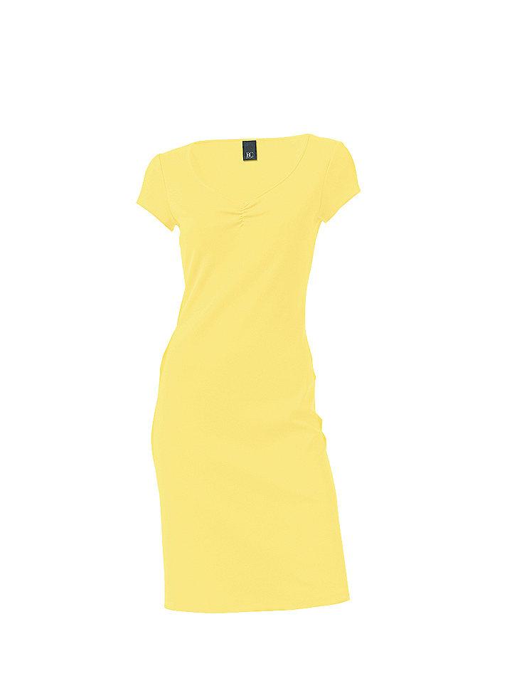 Трикотажное платье OttoЛетние<br>Красивая летняя базовая модель в элегантном стиле. V-образный вырез с изящной драпировкой и узкая окантовка по нижнему краю. Длина ок. 98 см. Покрой отлично подчёркивает фигуру. 95 % хлопка, 5% эластана. Серый меланж: 65 % хлопка, 30 % полиэстера, 5 % эластана. Машинная стирка.<br><br>Size DE: 38<br>Colour: желтый<br>Gender: Женский<br>Age: Взрослый<br>Material: Верх: 95% хлопок / 5% эластан