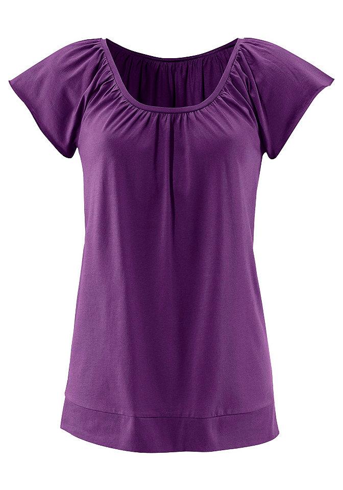 Футболк OttoФутболки<br>Свободная рубашка от LASCANA отлично подойдет для жарких летних дней. Элегантная модель с круглым вырезом горловины и рукавами-крылышками эффектно выглядит во многих сочетаниях. Длина — около 70 см. Состав: 100% вискоза.<br><br>Size DE: 52<br>Colour: фиолетовый<br>Gender: Женский<br>Age: Взрослый<br>Material: Верх: 100% вискоза