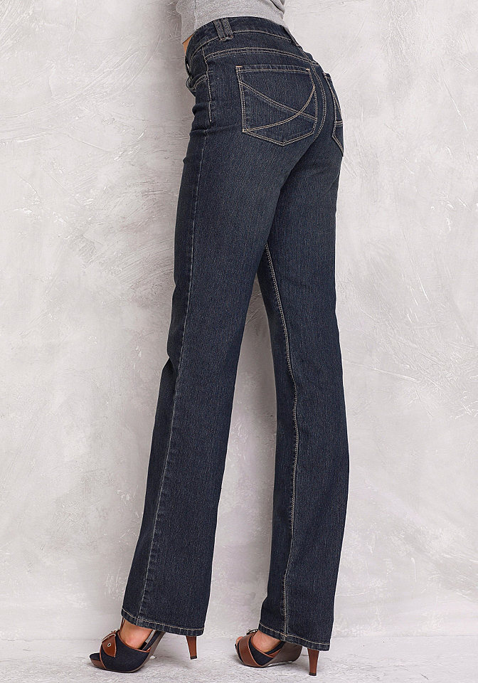 Джинсы стретч, Arizona, «Nathalie» OttoПрямые<br>Фасон «Beat». Ваши любимые джинсы прямого покроя. С 5 карманами и стильной вышивкой на задних карманах.  Длина по внутреннему шву ок.: Н-разм. 83,5 см, М-разм. 78,5 см, Б-разм. 90,5 см. Удобная посадка по фигуре.  Деним стретч отличного качества: 80 % хлопка, 18 % полиэстера, 2 % эластана. Белого цвета: 98 % хлопка, 2 % эластана.<br><br>Size DE: 18<br>Colour: синий<br>Gender: Женский<br>Age: Взрослый<br>Material: Верх: 79% хлопок / 19% полиэстер / 2% эластан