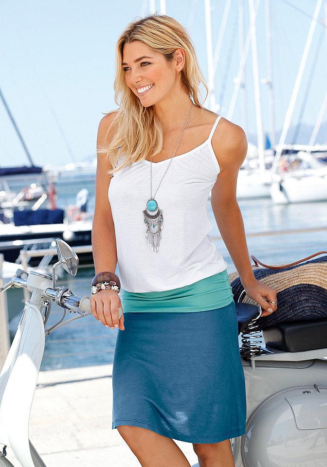Пляжное платье, Beach Time OttoПлатья и Юбки<br>Выглядит как 2 изделия! Непринуждённое пляжное платье со вставкой на бёдрах и сборками в боковых швах. Длина ок. 94 см. Мягкий материал из 100% вискозы. Серый меланж из 65% вискозы, 35% полиэстера. Примечание к малиновому цвету: цвет на самом деле светлее, чем на иллюстрации.<br><br>Size DE: 36<br>Colour: разноцветный<br>Gender: Женский<br>Age: Взрослый<br>Material: Верх: 100% вискоза