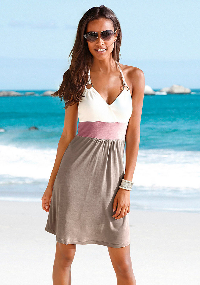 Платье для пляжа OttoПлатья и Юбки<br>Эффектный стиль с плетёной бретелью «петля». Длина ок. 86 см. Лёгкий и приятный на ощупь материал из 100 % вискозы.<br><br>Size DE: 40<br>Colour: зеленый<br>Gender: Женский<br>Age: Взрослый<br>Material: Верх: 100% вискоза